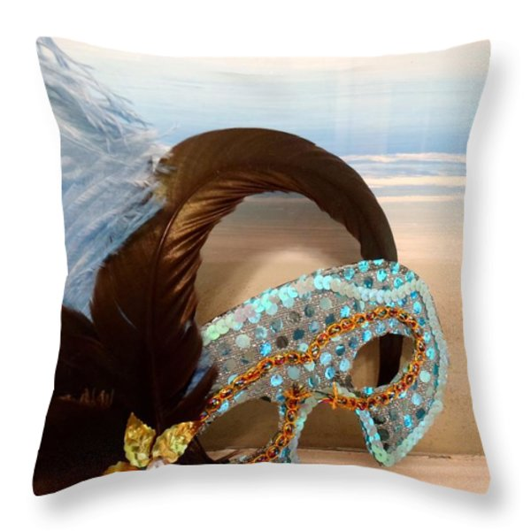 MASCARADE Throw Pillow by JAMART Photography
