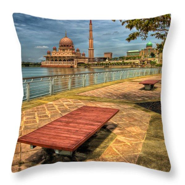 Masjid Putra Throw Pillow by Adrian Evans