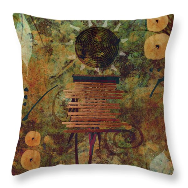 Maskerade Throw Pillow by Aimelle