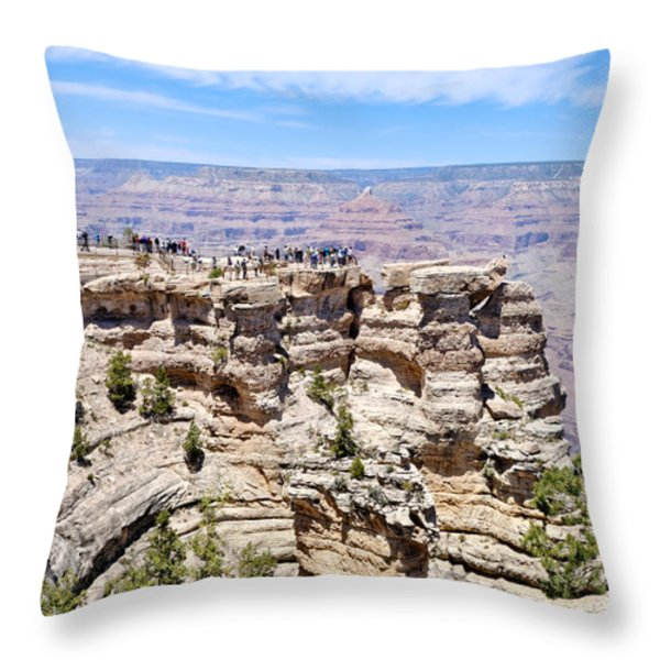 Mather Point at the Grand Canyon Throw Pillow by Julie Niemela