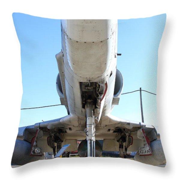 McDonnell Douglas TA-4J Skyhawk Aircraft Fighter Plane . 7D11202 Throw Pillow by Wingsdomain Art and Photography