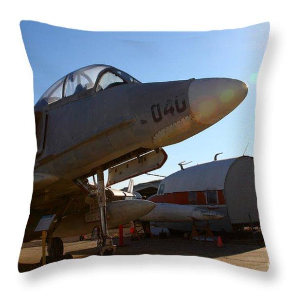 McDonnell Douglas TA-4J Skyhawk Aircraft Fighter Plane . 7D11302 Throw Pillow by Wingsdomain Art and Photography