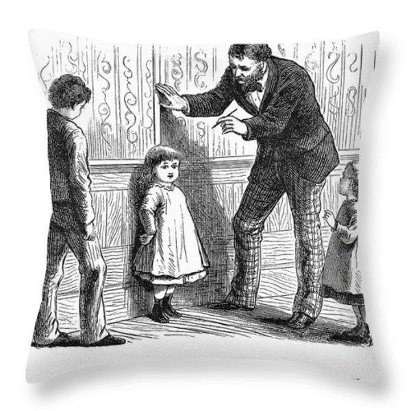 Measuring Children, 1876 Throw Pillow by Granger