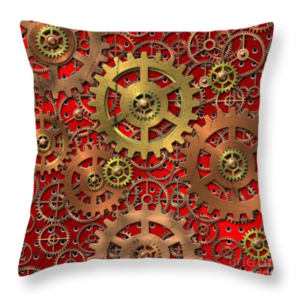 mechanism Throw Pillow by Michal Boubin