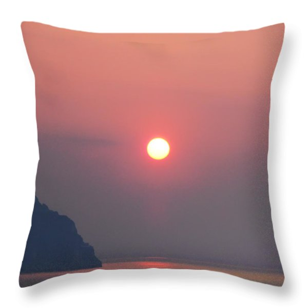 Medaterainian Sunset Throw Pillow by Bill Cannon