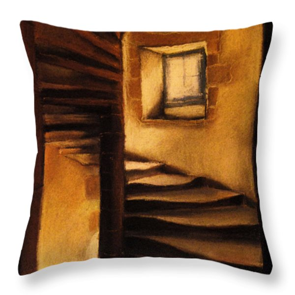 Medieval Tower Throw Pillow by Mona Edulesco