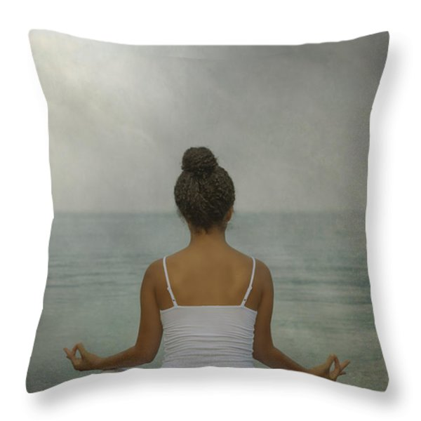 Meditation Throw Pillow by Joana Kruse