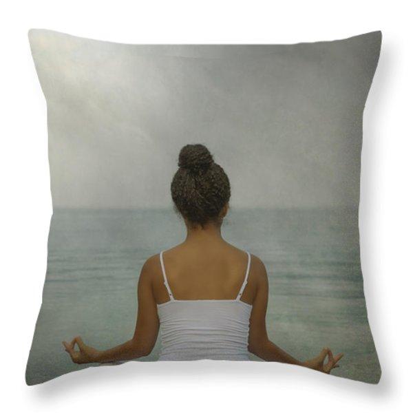 meditation Throw Pillow by Joana Kruse