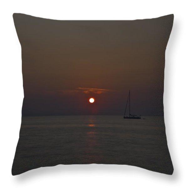 Mediterranean Throw Pillow by Joana Kruse