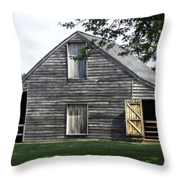 Meeks Stable Throw Pillow by Teresa Mucha
