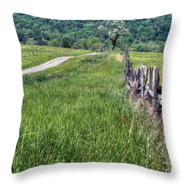 Meet me at the Tree V Throw Pillow by JC Findley