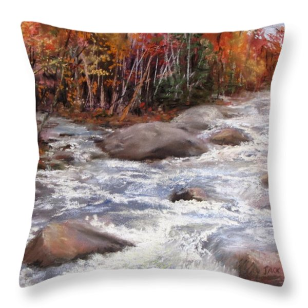 Meeting of the Waters Throw Pillow by Jack Skinner