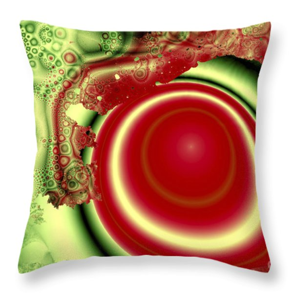 Melon Juice Throw Pillow by Jay Lethbridge
