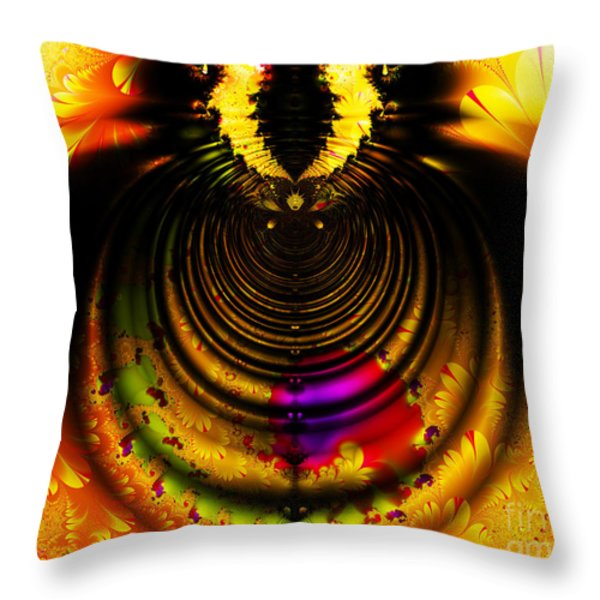 Melting Pot . Gold . Horizontal Cut . S8a.S11 Throw Pillow by Wingsdomain Art and Photography