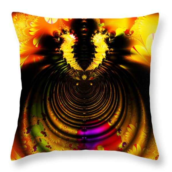 Melting Pot . Gold . S8a.S11 Throw Pillow by Wingsdomain Art and Photography