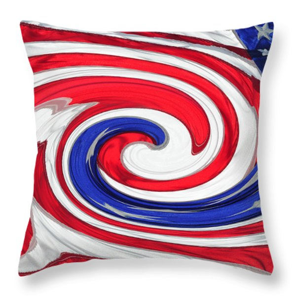 Melting Pot Throw Pillow by Wanda Brandon