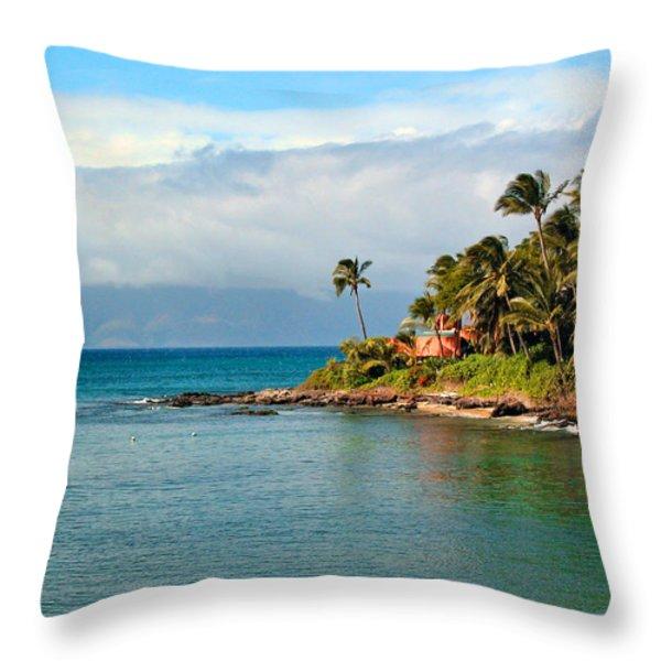 Memories Of Maui Throw Pillow by Lynn Bauer