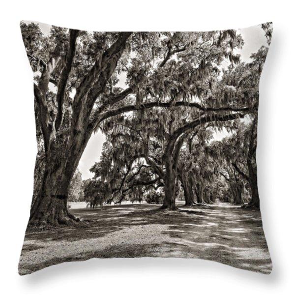 Memory Lane monochrome Throw Pillow by Steve Harrington