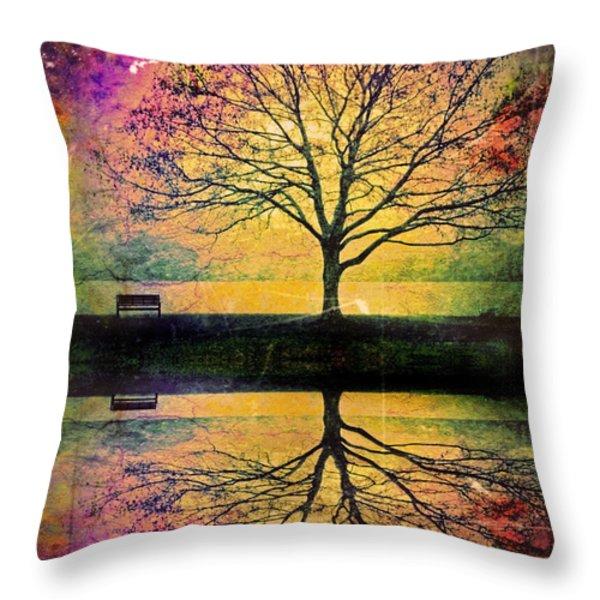 Memory Over Water Throw Pillow by Tara Turner