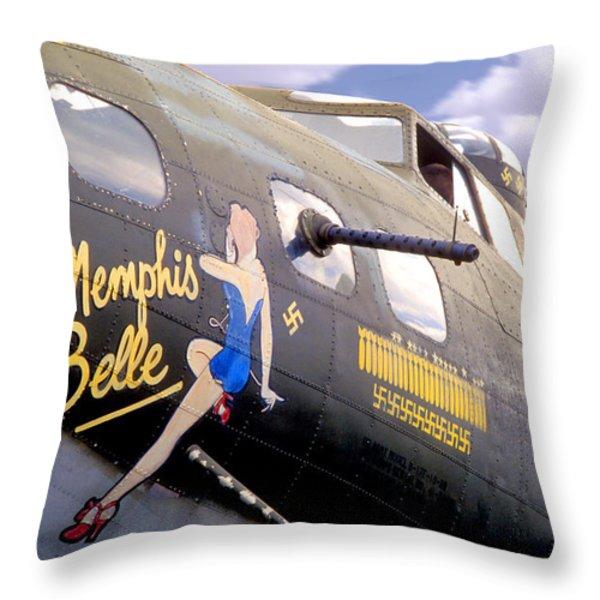 Memphis Belle Noce Art B - 17 Throw Pillow by Mike McGlothlen