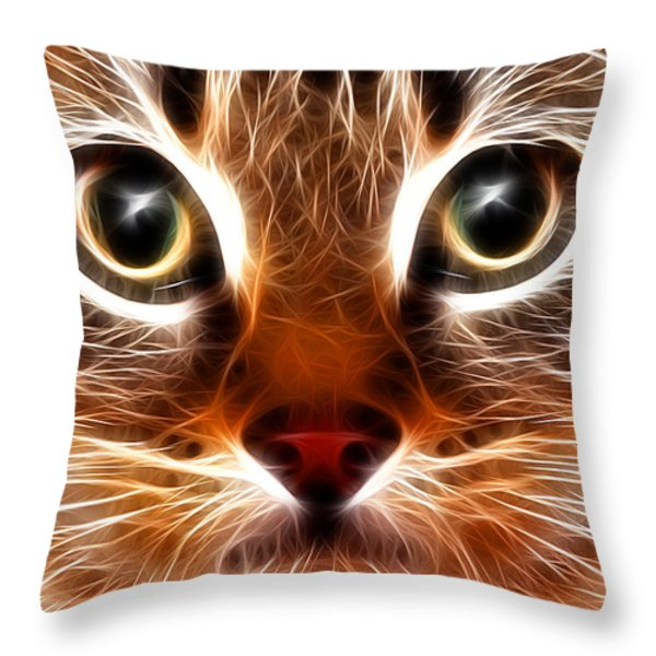 Meow Throw Pillow by Stephen Younts