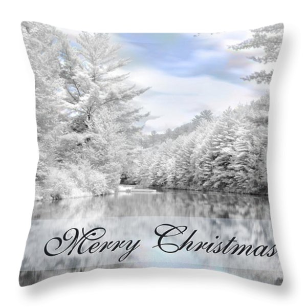 Merry Christmas - Lykens Reservoir Throw Pillow by Lori Deiter
