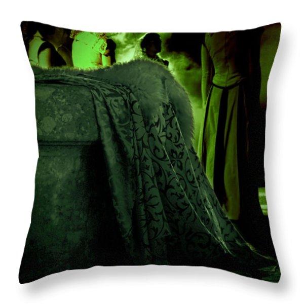 Merry meet green Throw Pillow by Jasna Buncic