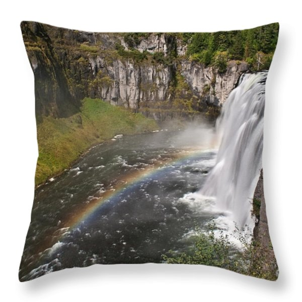 Mesa Falls II Throw Pillow by Robert Bales