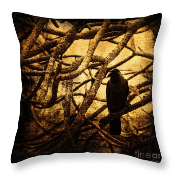 Messenger Throw Pillow by Andrew Paranavitana