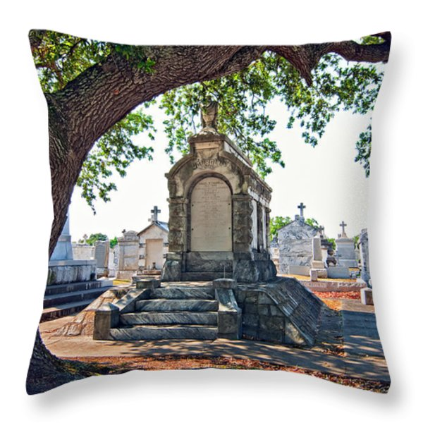 Metairie Cemetery Throw Pillow by Steve Harrington