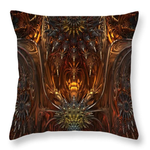 Metal Dragons Throw Pillow by Lyle Hatch