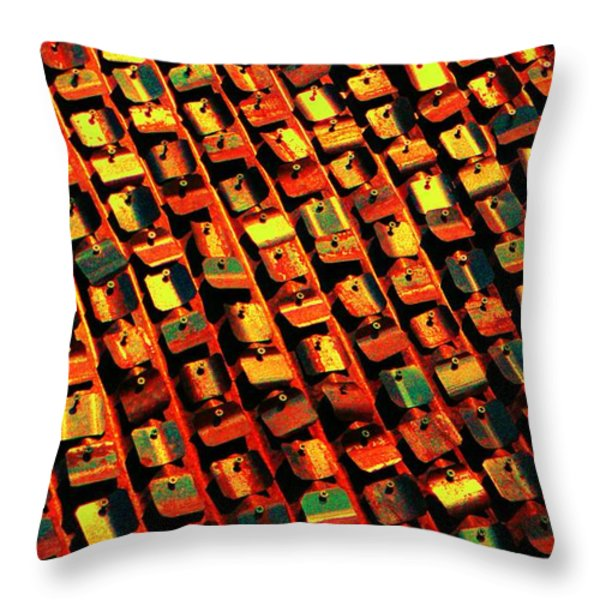 metal pop art Throw Pillow by Chris Berry