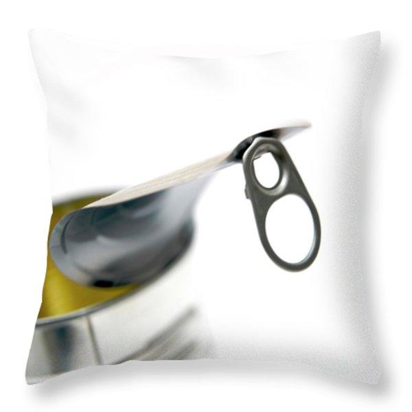 Metallic can Throw Pillow by BERNARD JAUBERT