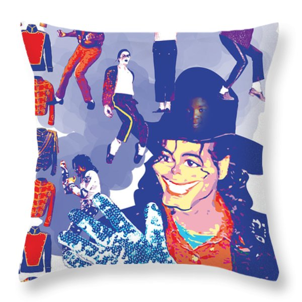 Michael Jackson Throw Pillow by Mark Armstrong