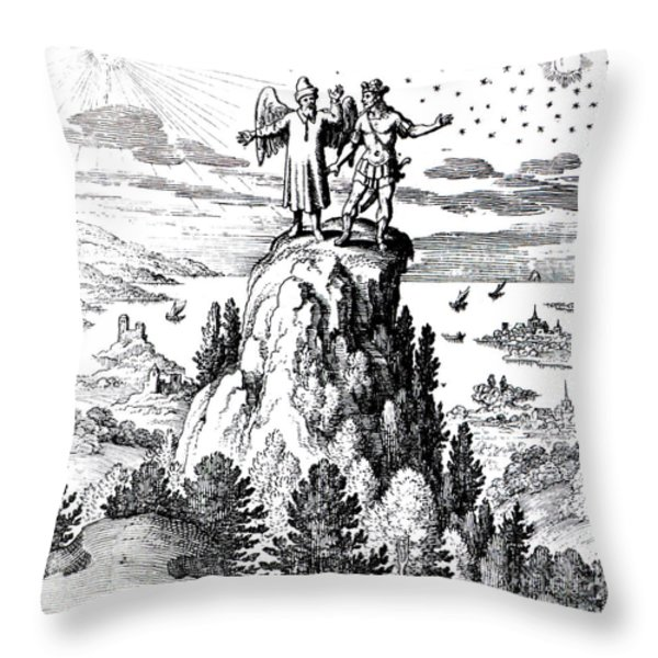 Microcosm, Macrocosm, 17th Century Throw Pillow by Science Source
