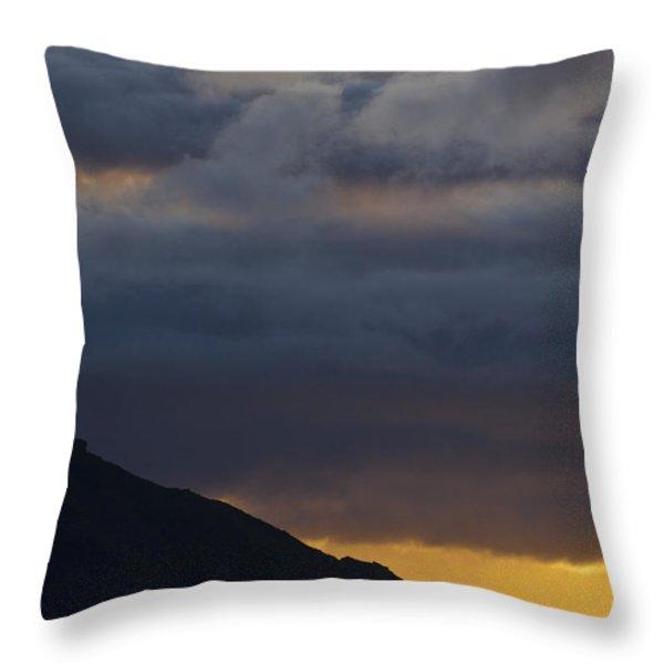 Mid-summer Night Blues Throw Pillow by Heiko Koehrer-Wagner