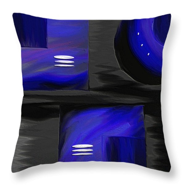 Midnight Throw Pillow by Ely Arsha