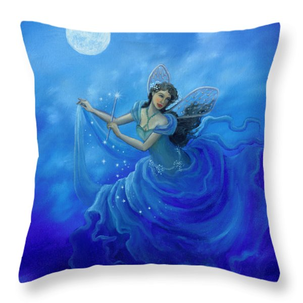 Midnight Fairy Throw Pillow by BK Lusk