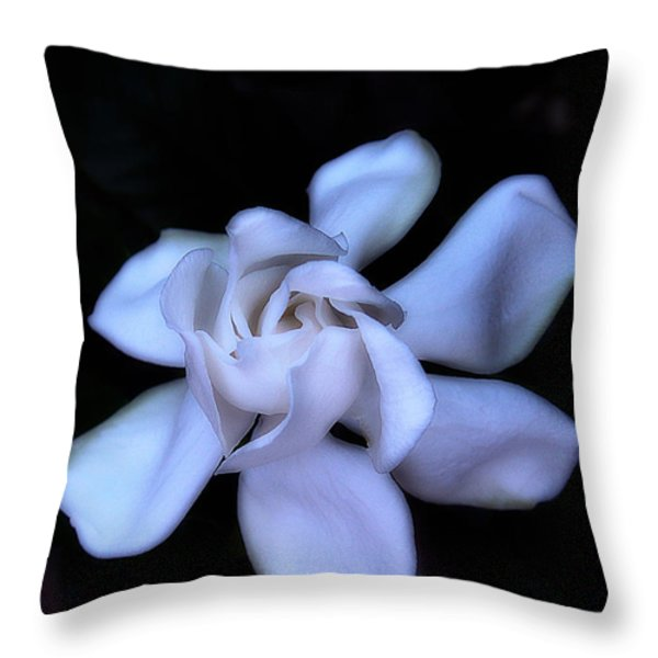 Midnight Gardenia Throw Pillow by Judi Bagwell