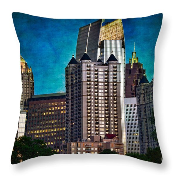 Midtown Skyline Throw Pillow by Doug Sturgess