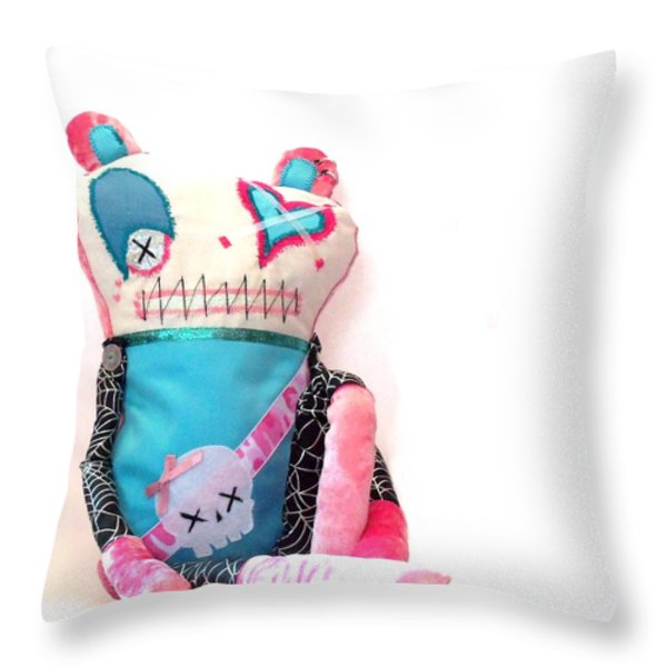 Mika The Original Party Monster Zombie Throw Pillow by Oddball Art Co by Lizzy Love