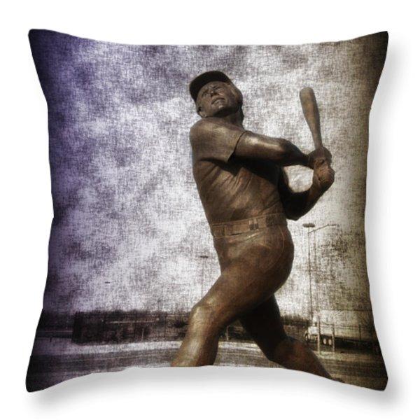 Mike Schmidt - Philadelphia Phillie Throw Pillow by Bill Cannon