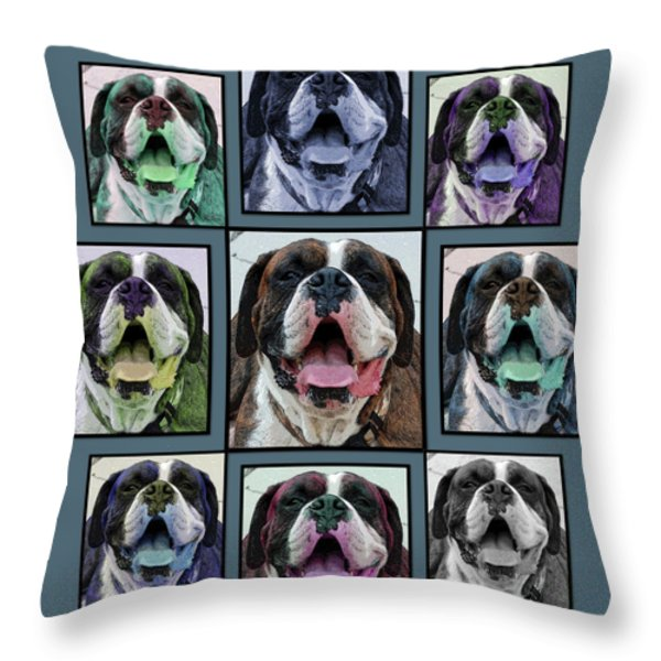 Miles of Smiles Throw Pillow by DigiArt Diaries by Vicky B Fuller