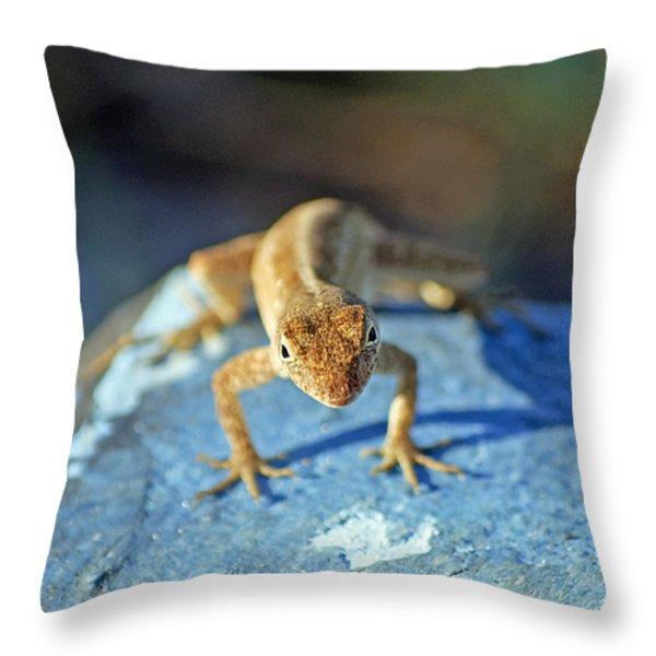 Mini Attitude Throw Pillow by Kenneth Albin