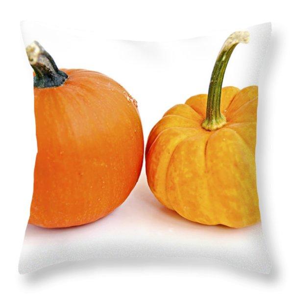 Mini pumpkins Throw Pillow by Elena Elisseeva