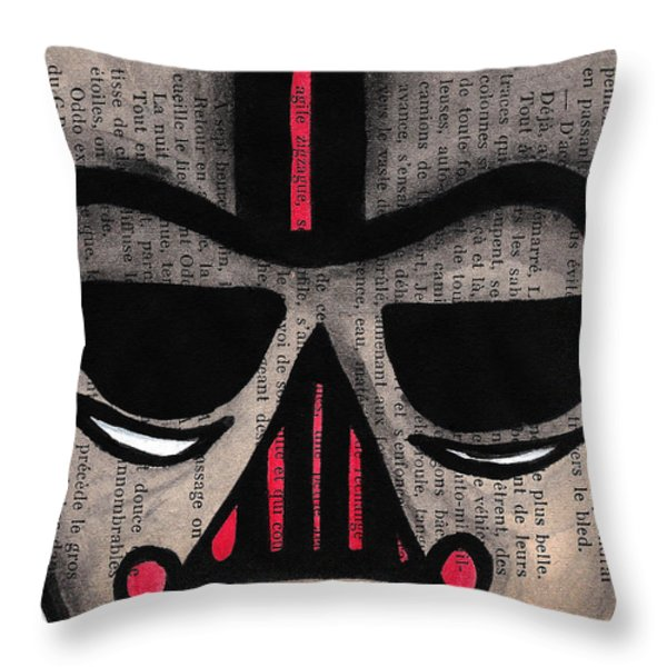 Minimally Dv Throw Pillow by Jera Sky