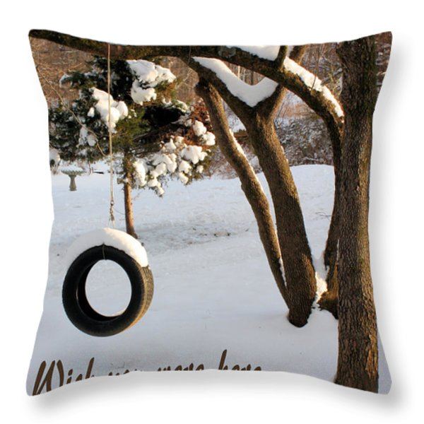 Missing You Throw Pillow by Kristin Elmquist