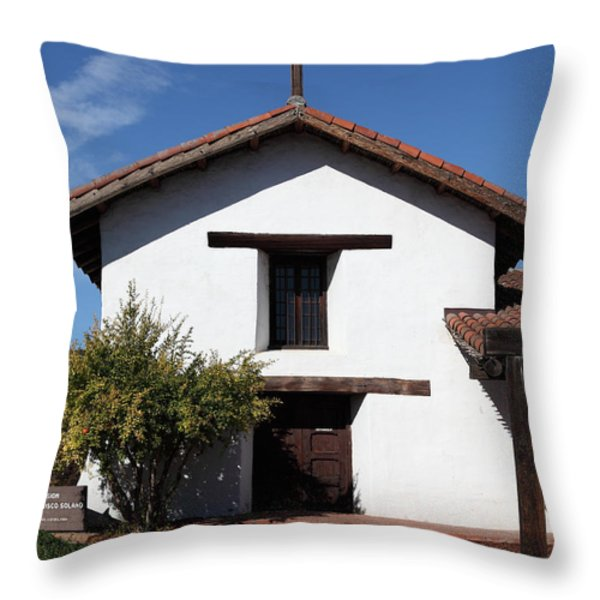 Mission Francisco Solano - Downtown Sonoma California - 5D19296 Throw Pillow by Wingsdomain Art and Photography