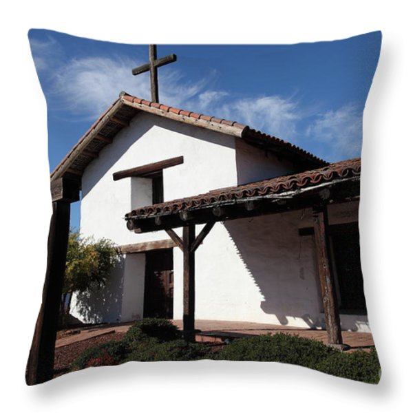 Mission Francisco Solano - Downtown Sonoma California - 5d19300 Throw Pillow by Wingsdomain Art and Photography