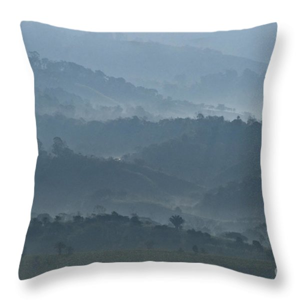 Misty Hills of Chiriqui Throw Pillow by Heiko Koehrer-Wagner